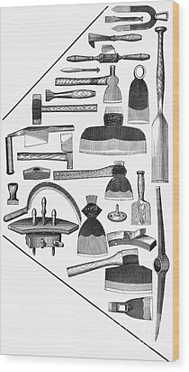 Hand Tools, 1876 Wood Print by Granger