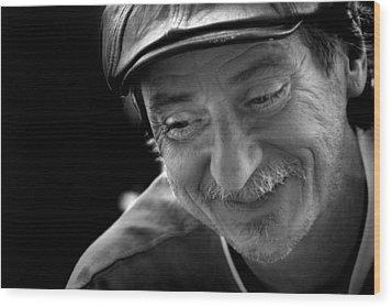 Happy Man Wood Print by Kelly Hazel