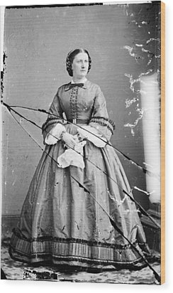 Harriet Lane, Niece Of  James Buchanan Wood Print by Everett