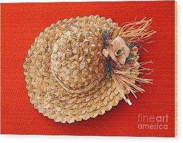 Hat Wood Print by Gaspar Avila
