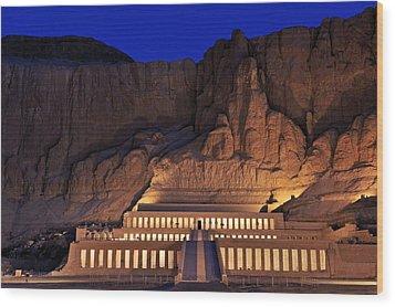 Hatshepsuts Mortuary Temple Rises Wood Print by Kenneth Garrett