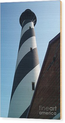 Hatteras Light Wood Print by Tony Cooper