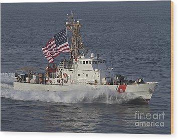 He U.s. Coast Guard Cutter Adak Wood Print by Stocktrek Images