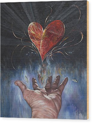 Heart And Soul Wood Print by Jan Camerone