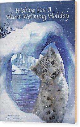 Heart Warmer Card Wood Print by Carol Cavalaris