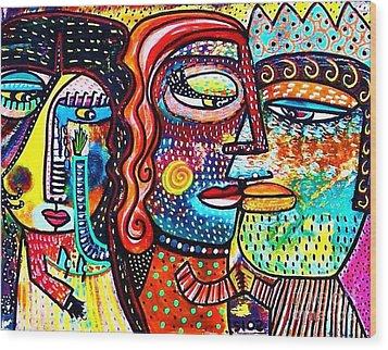 Heartbreak Dance Wood Print by Sandra Silberzweig