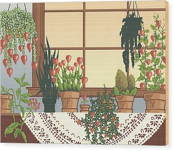 Hearts A' Bloom Wood Print by Anne Gifford