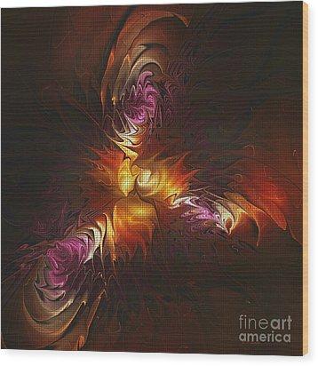 Heat Of Passion Wood Print by Deborah Benoit