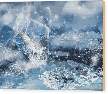 Heavenly Interlude Wood Print by Lourry Legarde