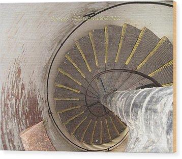 Helical Stairway Wood Print by Sonali Gangane