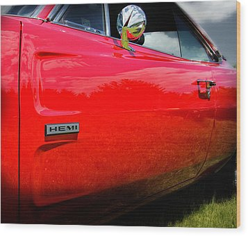 Hemi Charger Wood Print by Thomas Schoeller