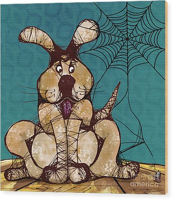 Her Woven Web Wood Print by Laura Brightwood