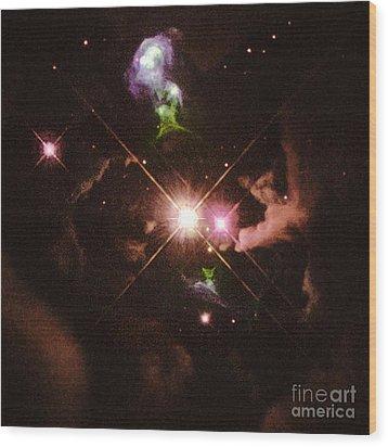 Herbig-haro 32 Wood Print by Space Telescope Science Institute / NASA