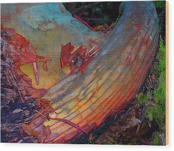 Wood Print featuring the digital art Here And Now by Richard Laeton