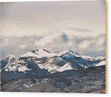 High Sierra Mountains Wood Print by Phyllis Kaltenbach