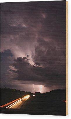 Highway Weather Wood Print by David Paul Murray