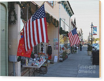 Historic Niles District In California Near Fremont . Main Street . Niles Boulevard . 7d10692 Wood Print by Wingsdomain Art and Photography