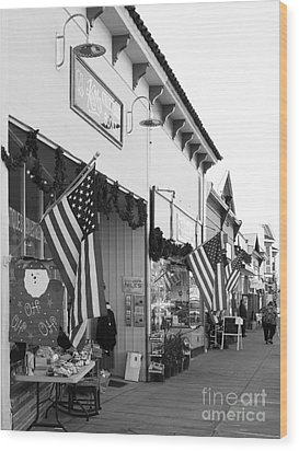 Historic Niles District In California Near Fremont . Main Street . Niles Boulevard . 7d10693 . Bw Wood Print by Wingsdomain Art and Photography