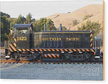 Historic Niles Trains In California . Old Southern Pacific Locomotive . 7d10867 Wood Print by Wingsdomain Art and Photography