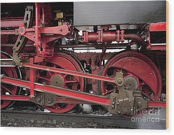 Historical Steam Train Wood Print by Heiko Koehrer-Wagner