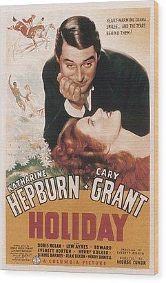 Holiday, Cary Grant, Katharine Hepburn Wood Print by Everett