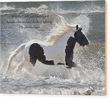 Hooves On The Wind Wood Print by Terry Kirkland Cook