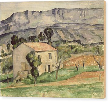 House In Provence Wood Print by Paul Cezanne