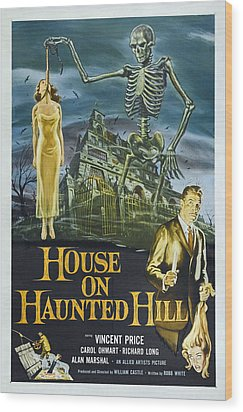 House On Haunted Hill, Alternate Poster Wood Print by Everett