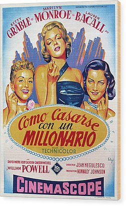 How To Marry A Millionaire, Betty Wood Print by Everett