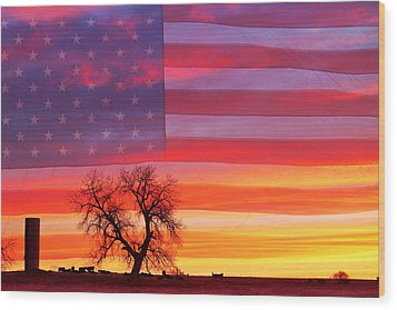 I Am Thankful To Be An American Wood Print by James BO  Insogna