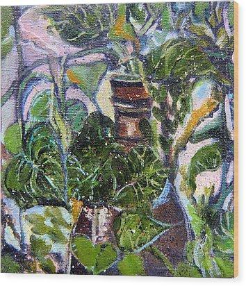 I Am The Vine Wood Print by Mindy Newman