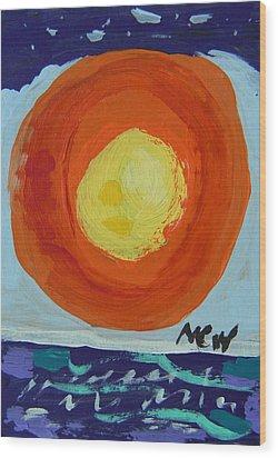 I Like A Full Sun Wood Print by Mary Carol Williams