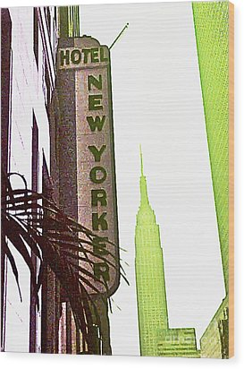 I Love New York Wood Print by Beth Saffer