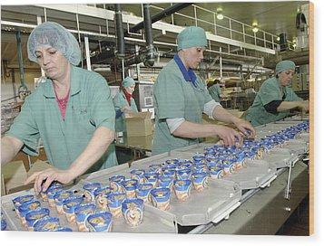 Ice Cream Production Line Wood Print by Ria Novosti