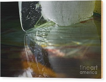Ice Obsession Two Wood Print by Gwyn Newcombe