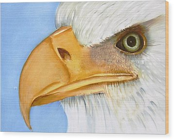 Image 1147b Bold Eagle 1 Wood Print by Wilma Manhardt
