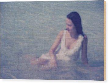 In Blue. Impressionism Wood Print by Jenny Rainbow