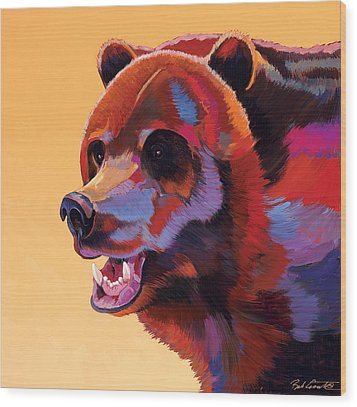 In Your Face Wood Print by Bob Coonts