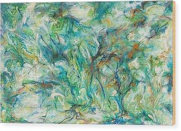 Incursion Wood Print by Hatin Josee