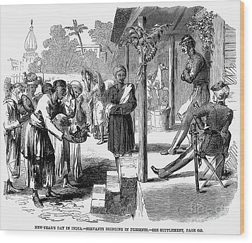 India: New Years Day, 1859 Wood Print by Granger
