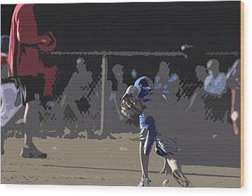 Infield Wood Print by Peter  McIntosh