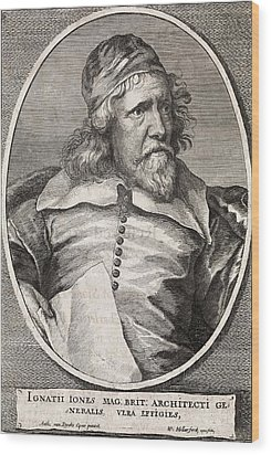 Inigo Jones, British Architect Wood Print by Middle Temple Library
