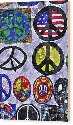 Inner Peace Wood Print by Juls Adams