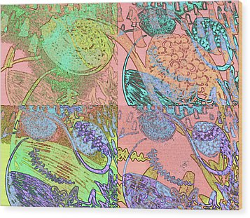 Inner Self - Pink Frequency Wood Print by Maria Mars