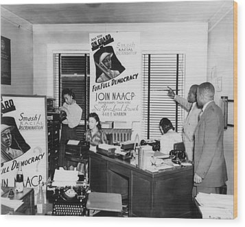 Interior View Of Naacp Branch Office Wood Print by Everett