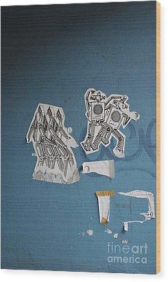 International Robots Wood Print by Jen Bodendorfer