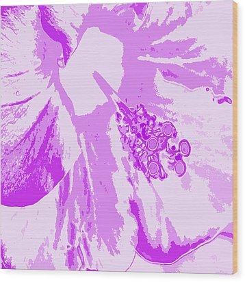 Intimate Purple Wood Print by Keren Shiker