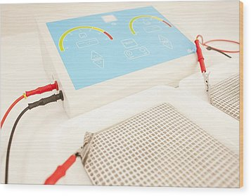 Iontophoresis Equipment Wood Print by