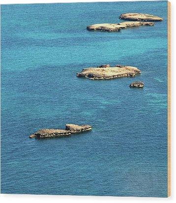 Islets Islands Wood Print by Judy Dunlop