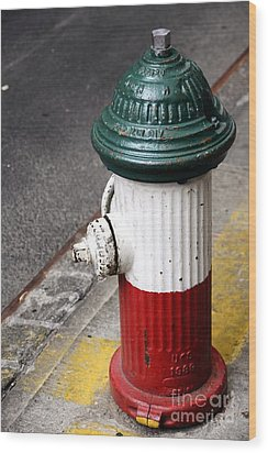 Italian Fire Hydrant Wood Print by Sophie Vigneault